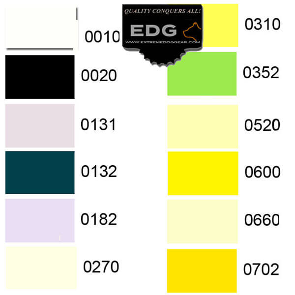 Thread Choices for Personalized Embroidered EDG Dog Collar