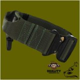 green camo dog collar with cobra pro style buckle for k9 tactical dogs