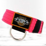 softshell neon pink dog collar