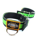 Puncher black green extreme dog gear collar 2 inch nylon 5cm width