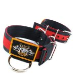 Puncher black red extreme dog gear collar 2 inch nylon 5cm width