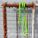 dog rope leash apple green