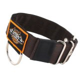brown extreme dog gear 4 layer heavy duty nylon sport dog collar