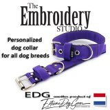 Purple Standard or Personalized Embroidered Dog Collar 2 inch - 5cm