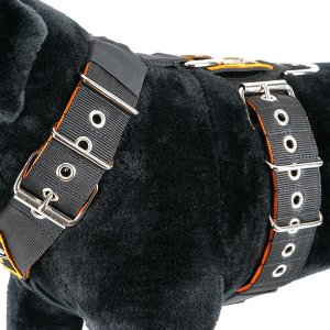 Color between dog harness 5cm yellow black orange