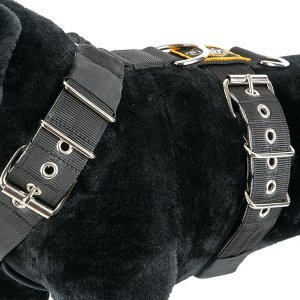 Color between dog harness 5cm yellow black grey