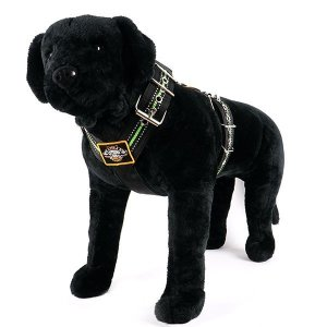 Custom dog harness 2 inch reflective green by extreme dog gear