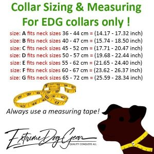EDG sizing and measuring for Standard or Personalized Embroidered Dog Collar