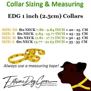 EDG sizing and measuring for Standard or Personalized Dog Collar