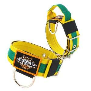 ADO Den Haag dog collar 2 inch 5cm with handle extreme dog gear