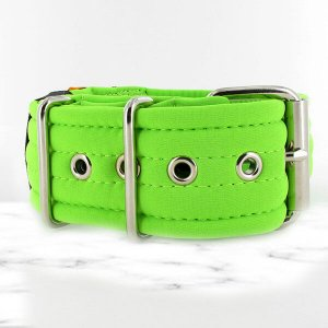 softshell neon green extreme dog collar