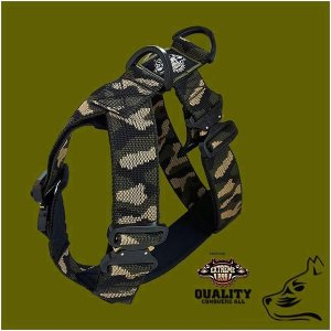 Tactical cobra pro style Dog harness 5cm black by extreme dog gear