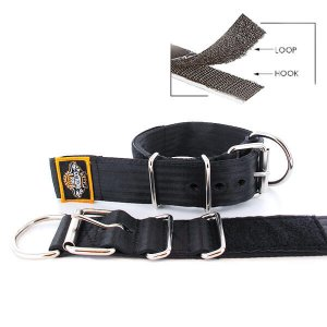 black seat belt kennel keeper dog collar