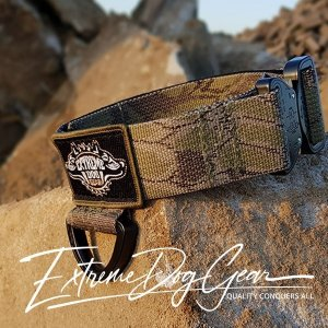 Kryptek Mandrake Deploy Tactical Dog Collar with cobra pro style buckle