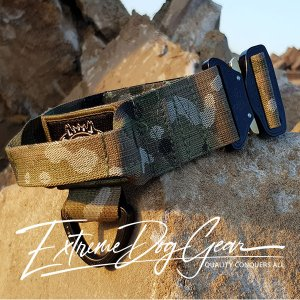 Multicam Dog Collar with cobra pro style buckle and handle