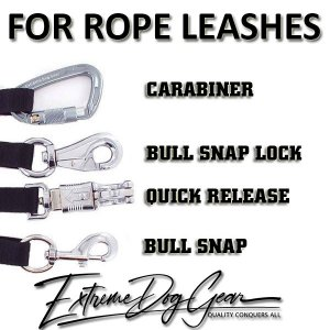 musketon carabiner panic hook bull snap dog rope leash