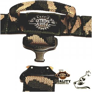 quick release k9 army police dog set camo tactical