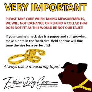 tactical dog collar sizing chart