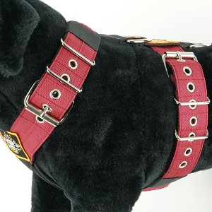 Dog harness 5cm bordeaux by extreme dog gear