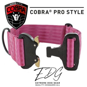 cyclamen cobra buckle collar