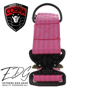 cyclamen cobra dog collar