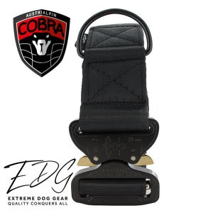 black cobra dog collar