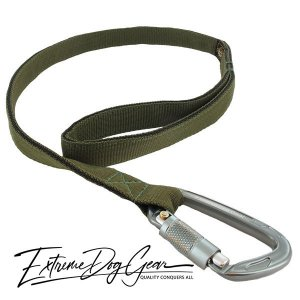 strong dog leash olive green lead