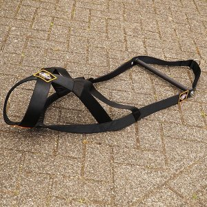 dog weight pulling harness black