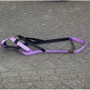dog weight pull harness purple