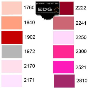 EDG Thread color choices for Personalized Embroidery Dog Collar