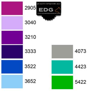 Thread color choices for Personalized Embroidery EDG Dog Collar