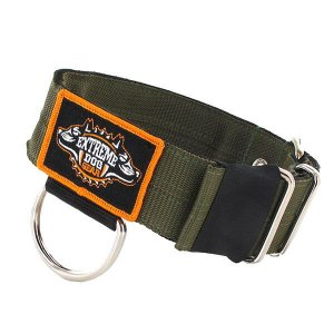 extreme heavy duty dog collar olive color 2 inch en 5cm width