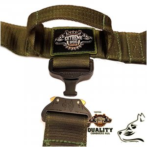 camo green k9 tactical gear set