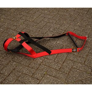 dog weight-pull harness red
